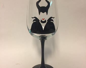 Maleficent wine glass, stemless, pint, or tumbler inspired by Disneys Sleeping Beauty and The Beast