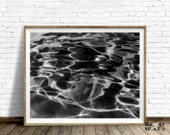 Ocean art Ocean water print Ocean wall art Black and white art print Ocean abstract print Ocean photography Sea water prints Ripples prints