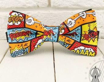 Comics Bow Tie, Bubbles bowtie, Multicolor, Men's bow tie, Women's bow tie, Children's bow tie