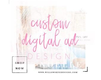 Custom Ad Design, Social Media Marketing, Advertising, Branding, Design