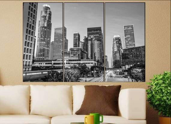 Los Angeles skyline canvas  Los Angeles, California canvas art Los Angeles wall decoration Los Angeles large canvas