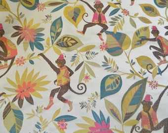 Monkey Play - Decorative Throw Pillow Cover, Lumbar Cover, Euro Sham / All Size