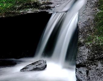 Adirondack Waterfall, Adirondack Stream, Fine Art Photography, Nature Print, Wall Art, Adirondack Waterfall Print, Waterfall Art, Art Print