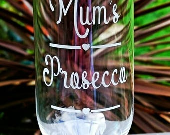 Personalised Engraved Prosecco Flute - Champagne - New - Handmade