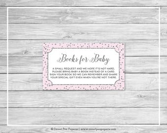 Pink and Silver Baby Shower Book Instead of Card Insert - Printable Baby Shower Books for Baby - Pink and Silver Baby Shower - SP150