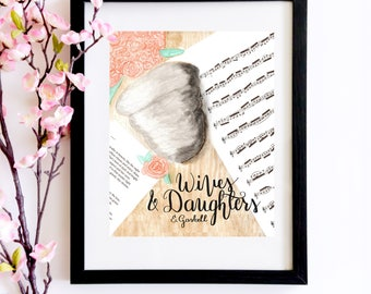 Wives and Daughters Wasp Nest Watercolor Print   A Literary Gift for Bookworms, Book Lovers and  Elizabeth Gaskell Fans