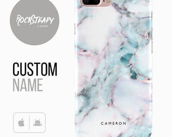Marble Phone case, Personalised iPhone 7, 8, X, 6, 6s Plus, samsung Galaxy S8, 5S, SE custom white case, personalized Galaxy S6, S7,monogram