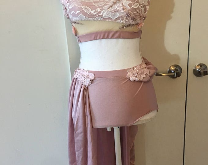 Lyrical Dance costume, Pink lyrical Dance Costume,AVAILABLE TO SHIP, lyrical solo dance costume, one of a kind costume size Small adult