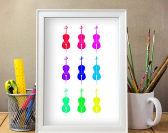 A4 Colour Print of Cellos / DIGITAL DOWNLOAD