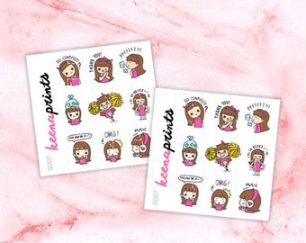 15% OFF S007 | Keenachi C Sampler Stickers Perfect for Erin Condren Life Planner, Filofax, Plum Paper & other planner or scrapbooking
