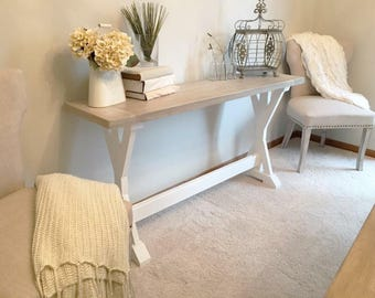 White Washed Console Table