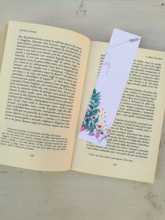 Bookmark Watercolor, handmade, paper bookmarks, custom bookmarks, wedding Favors-#1