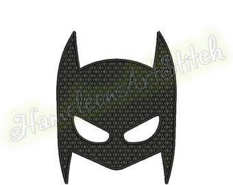 9 sizes, Filled Embroidery Design, Batman Mask, File INSTANT DOWNLOAD