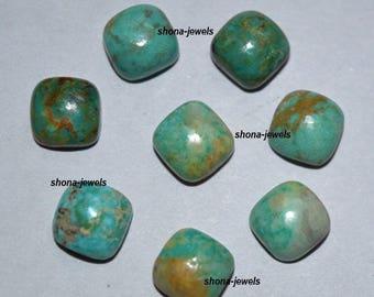 10-P Wholesale Lot Of Natural Turquoise cushion Shape Loose Gemstone Cabochon