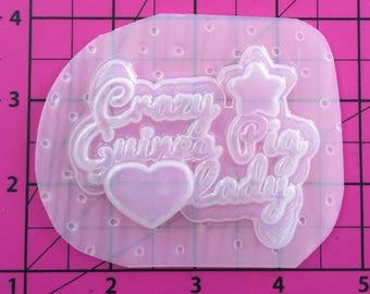 Crazy Guinea Pig Lady - Flexible Plastic Resin Mold