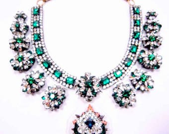 Emerald City - Green Statement Necklace