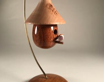 Miniature Wooden Birdhouse (8) hand-turned
