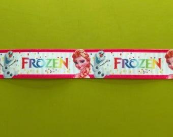 Elsa & Olaf Frozen inspired 7/8 22 mm grosgrain ribbon