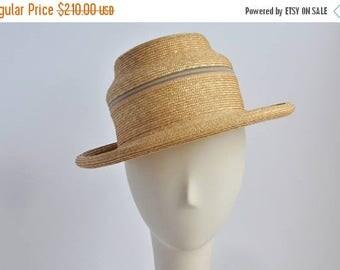 SALE 831 - Straw Fedora Pagoda - Sun Hat