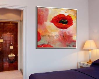 Flower Art Painting, Bedroom Wall Art, Flower Art, Original Artwork, Original Painting, Art Painting, Flower Canvas Art, Oil Painting