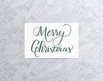 Merry Christmas | Christmas Card and Envelope