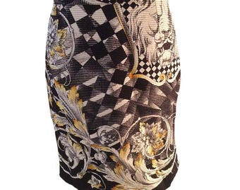 Early 1990s Gianni Versace Couture Baroque Skirt