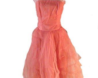 1950s Sylvia Ann Tulle Dress