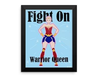 Warrior Queen Framed Poster