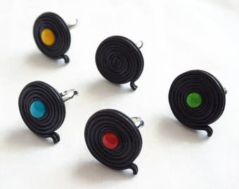 Ring Liquorice black in polymer clay - different colors available