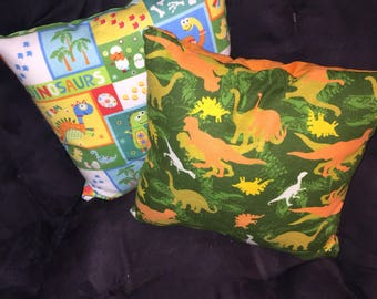 Childrens dinosaurs set of two pillows