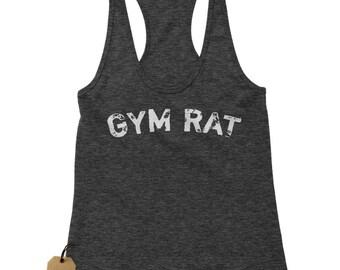Gym Rat Workout Racerback Tank Top for Women