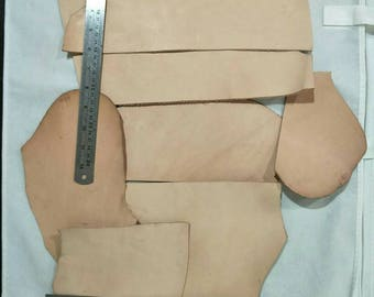 1lb. (480g), Leather Scraps, Vegetable Tanned Leather, Tooling Leather, DIY Project.