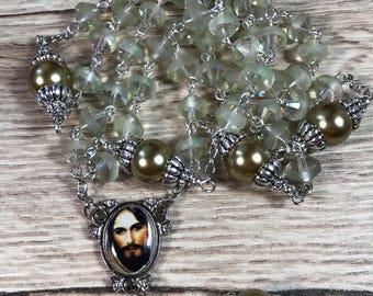 Handmade Rosary Jesus 5 Decade Rosary