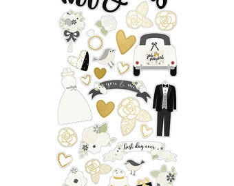 Simple Stories Always & Forever Chipboard Stickers