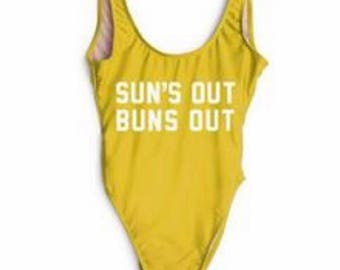 Suns out buns out swimsuit