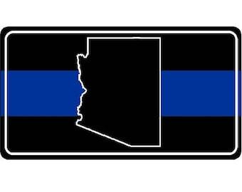 Arizona Blue Line Photo License Plate - LPO3570