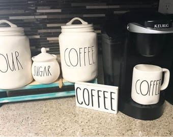 Rae Dunn Inspired COFFEE mini wooden sign