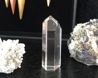 CLEAR Quartz Standing Point infused w/ Reiki Perfect for Crystal Grids