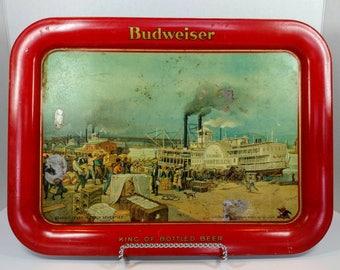 Antique Anheuser Busch serving tray, 1930s Budweiser tray, Budweiser st. Louis beer tray, Anheuser-Busch Budweiser collectible