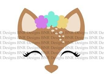 Deer SVG, DXF File, Silhouette File, Cameo File, Cricut File, Vinyl SVG File