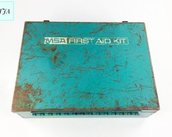 MSA Mine Safety Appliance First Aid Kit 16 Unit Empty