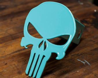 Punisher Trailer Hitch Cover- Seafoam Green