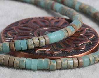 4mm blue rondelle faceted ocean jasper beads,1 strand approx 38 cm ( approx 15 inch- approx 150 Pcs)