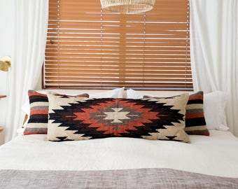 Earth Tones Tribal Style Diamond Pillow Cover - Set of 3
