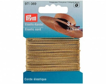 Elastic cord 1.5 mm gold (3 m)