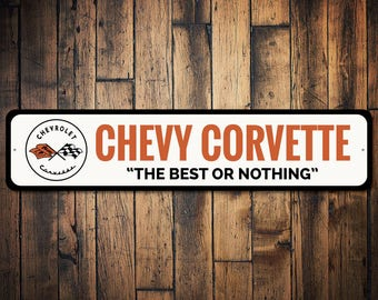 Corvette Gift Chevy Corvette Sign Dad S Corvette Sign Father S Day Gift Corvette