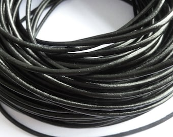 leather cord 3 mm black PR01000 100 m