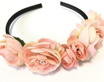 Rose crown, Rose bridal crown, flower girl crown, floral crown, flower crown, Easter, women, flower girl, wedding, hair accessory, headband