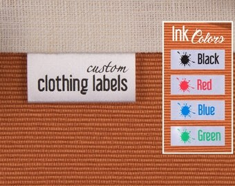 200 Clothing Labels, Custom Fabric Labels, White Satin Tags, Custom Sew In Labels, Care Labels, Custom Care Tags, Garment Tags, Fabric Tags