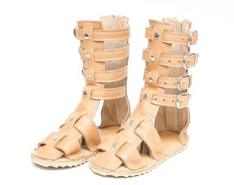 Leather Gladiator Sandals for Babies, Toddlers and Kids - 15+ Color Options